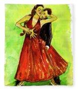 Dancing In The Showlights Fleece Blanket