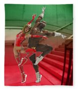 Dancing On The Stairs Fleece Blanket