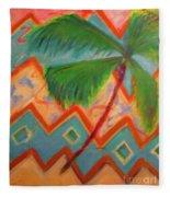 Dancing Palm Fleece Blanket