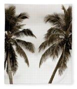 Dancing Palms Fleece Blanket