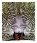 Dancing Peacock, Kanha National Park Fleece Blanket