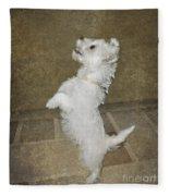 Dancing Puppy Fleece Blanket