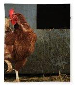 Dancing Rooster Fleece Blanket