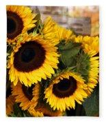 Dancing Sunflowers Fleece Blanket