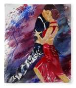 Dancing Tango Fleece Blanket