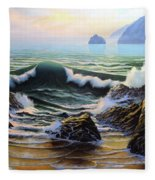 Dancing Tide Fleece Blanket
