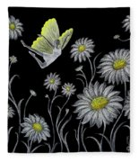 Dancing With Daisies Fleece Blanket