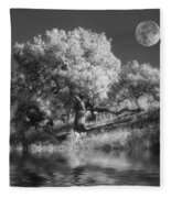 Dancing With The Moon Fleece Blanket