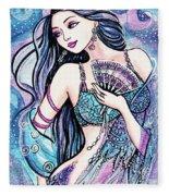 Dancing With The Waves Fleece Blanket