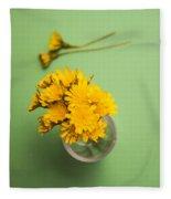 Dandelion Flower Clippings Fleece Blanket