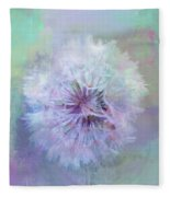 Dandelion In Pastel Fleece Blanket