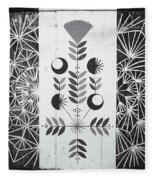 Dandelion Puff Fleece Blanket