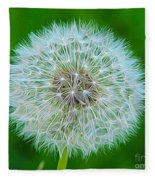 Dandelion Seed Head Expressionist Effect Fleece Blanket