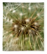 Dandelion Seed Head Fleece Blanket