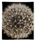Dandelion Sun Fleece Blanket