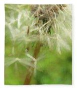 Dandelion Wish 7 Fleece Blanket