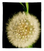 Dandelion's Seed Head. Fleece Blanket