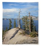Dangerous Slope At Crater Lake Fleece Blanket