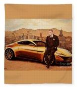 Daniel Craig As James Bond Fleece Blanket
