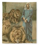 Daniel In The Lions Den Fleece Blanket