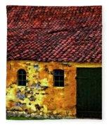 Danish Barn Watercolor Version Fleece Blanket