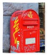 Danish Mailbox Fleece Blanket