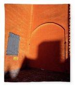 Danish Orange And Shadows  Copenhagen Denmark Fleece Blanket