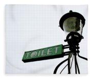 Danish Toilet Sign Fleece Blanket