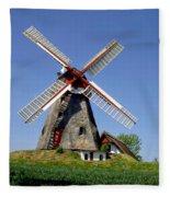 Danish Windmill Fleece Blanket