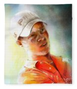 Danny Willett In The Madrid Masters Fleece Blanket