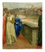 Dante And Beatrice Fleece Blanket