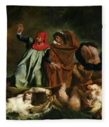 Dante And Virgil In The Underworld Fleece Blanket