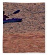 Danvers River Kayaker Fleece Blanket