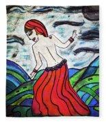 Danza De Mar Y Luna Fleece Blanket