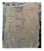 Danzantes Stone Carving Fleece Blanket
