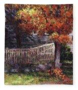 Dappled Fence Fleece Blanket