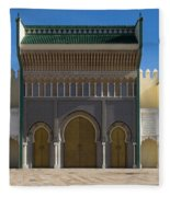 Dar-el-makhzen The Royal Palace Fleece Blanket