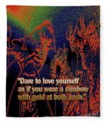 Dare To Love Yourself On National Selfie Day Fleece Blanket