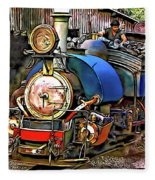 Darjeeling Toy Train Fleece Blanket