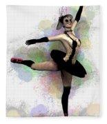 Dark Ballerina  Fleece Blanket