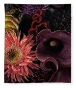 Dark Bouquet Fleece Blanket