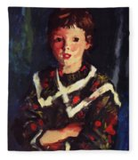 Dark Bridget Lavelle 1928 Fleece Blanket