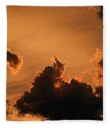 Dark Clouds Looming Fleece Blanket