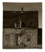 Dark Day On Lonely Street Fleece Blanket