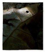 Dark Leaves Fleece Blanket