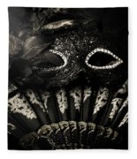 Dark Night Carnival Affair Fleece Blanket