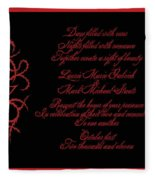 Dark Nights Bright Days Wedding Invitaion Fleece Blanket