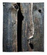 Dark Old Wooden Boards With Shadow Fleece Blanket