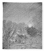 Dark, Rainy Night Fleece Blanket
