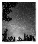 Dark Stellar Universe Fleece Blanket